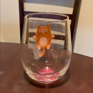 Other - Cute Cat Stemless Wine Glass